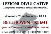 """Beethoven - Klimt """"percorsi comuni fra artisti non comuni"""" prima lezione divulgativa del 2020"""
